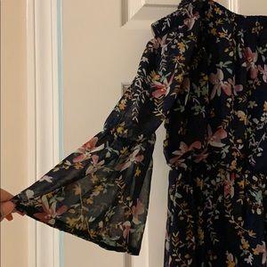 Lily Rose Dresses - Floral Off-the-Shoulder Maxi Dress
